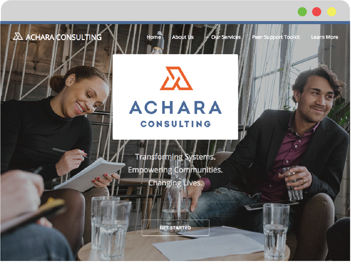 Website design for Achara Consulting thumbnail image