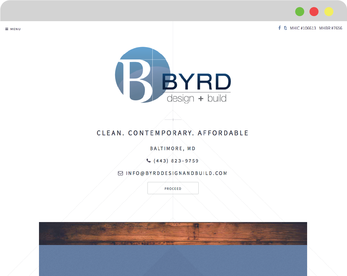 Web Design thumbnail image for Byrd Design and Build