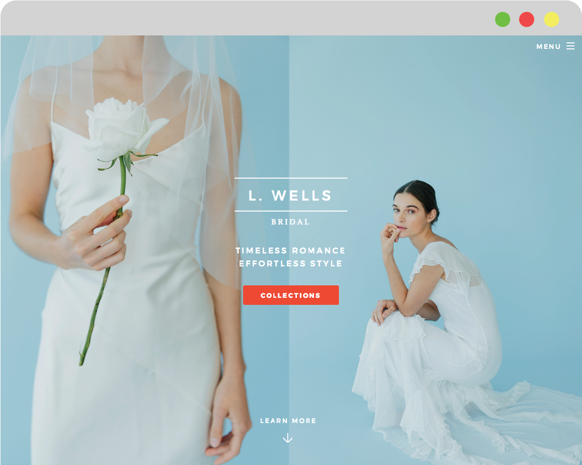 Landing Page thumbnail image for L. Wells Bridal